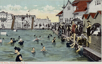 Ocean Grove Pool & Historic Postcard Images of Asbury Park NJ