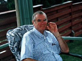 My Dad Relaxing on the Porch During a Visit to My Home in St Paul in 1998