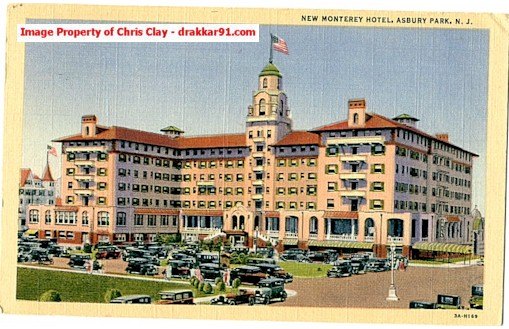 New Monterey Hotel This No Longer Exists In Asbury Park It Was Located Near The Berkeley Carteret Nj028 Nj